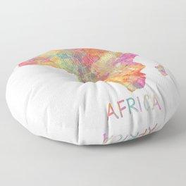 Africa map 2 Floor Pillow