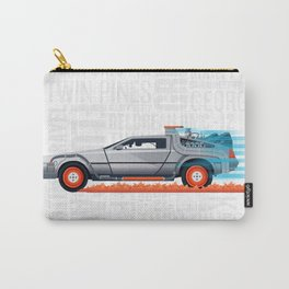 Great Scott! Back to the Future Delorean Print Carry-All Pouch