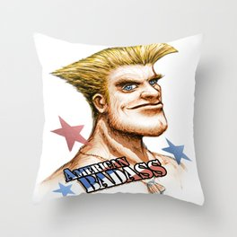 American Badass Throw Pillow
