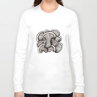 mushrooms Long Sleeve T-shirts featuring Mushrooms by Freja Friborg