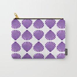 Purple Glitter Shells Carry-All Pouch