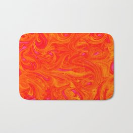 Orange on Fire with Swirls of Pink and Yellow Bath Mat