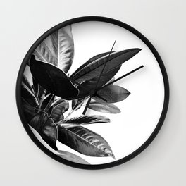 Grandiflora II - bw Wall Clock