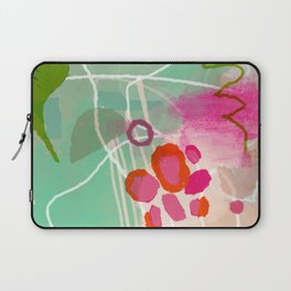 garden path abstract brush & color study Laptop Sleeve