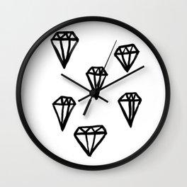 Little Rocks - Diamonds Wall Clock