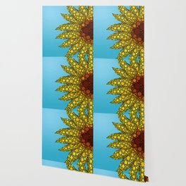 Sunflower in Abstract Form - Flower field - Autumn and summer collide - 57 Montgomery Ave Wallpaper