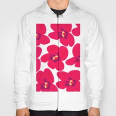 Red Retro Flowers Hoody
