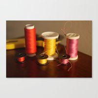 sewing Canvas Prints featuring Sewing notions by in my closet