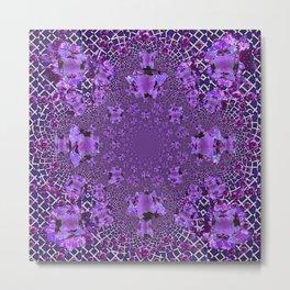 Encrusted Amethyst Purple Gems February Birthstones art Metal Print