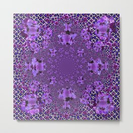 Encrusted Amethyst Purple Gems February Birthstones art Metal Print