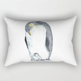 Penguin bird watercolor Rectangular Pillow