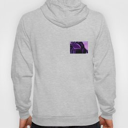 purple tropical flower abstract digital painting Hoody