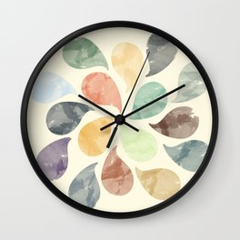 Colorful Water Drops (Watercolor version) Wall Clock
