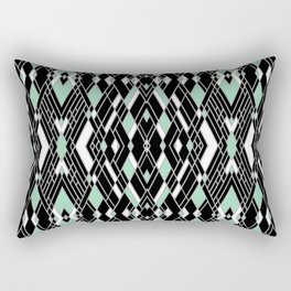 Art Deco Mint Rectangular Pillow