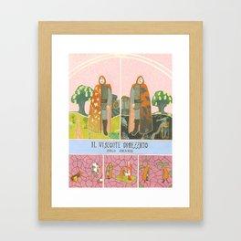 Il Visconte Dimezzato (The cloven viscount) Framed Art Print