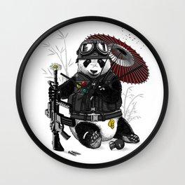 Military Panda Wall Clock