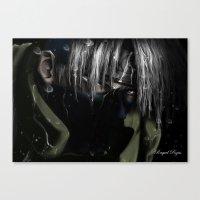 kakashi Canvas Prints featuring Hatake Kakashi by Raquel Rojas Gómez