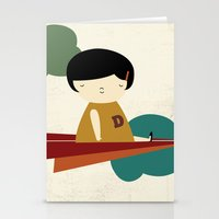 be brave Stationery Cards featuring Brave by yael frankel