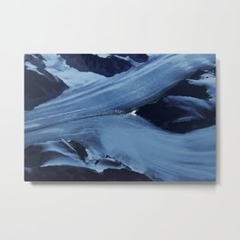 Blue shapes in nature Metal Print