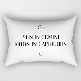 Gemini/Capricorn Sun and Moon Signs Rectangular Pillow