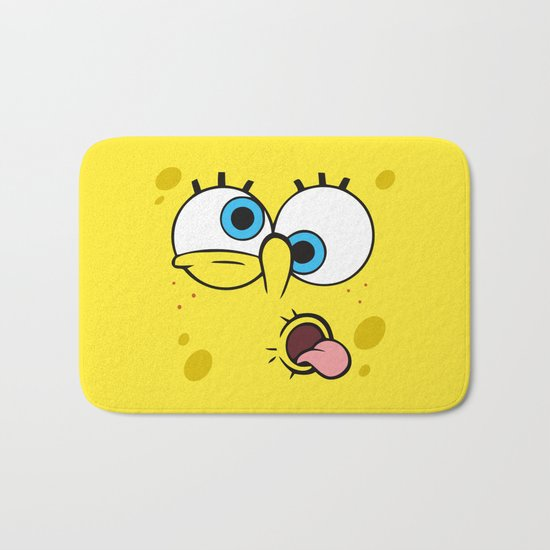Spongebob Crazy Face Bath Mat