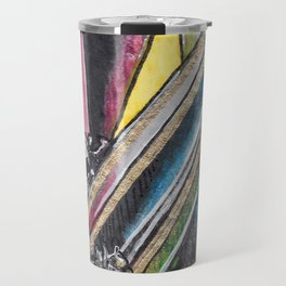 Rainbow Metallic Crystals Travel Mug
