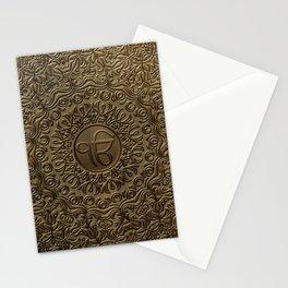 Decorative Ek Onkar / Ik Onkar  embossed on gold Stationery Cards