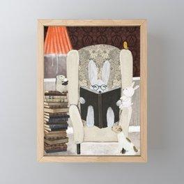 reading time Framed Mini Art Print