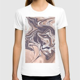 Liquid Rose Gold Violet and Marble T-shirt