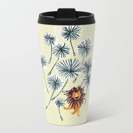 Lion on dandelion Metal Travel Mug