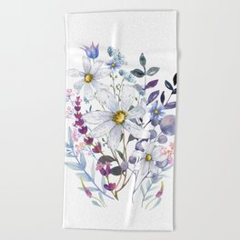 Wildflowers V Beach Towel
