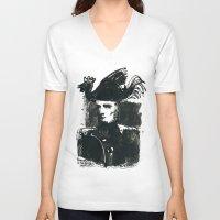 napoleon V-neck T-shirts featuring napoleon by Chuchuligoff