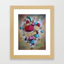 Cubist Grapes V2 Framed Art Print
