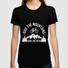 RIDE MOUNTAINBIKE Funny Cycling Gift Bicycle Rider T-shirt