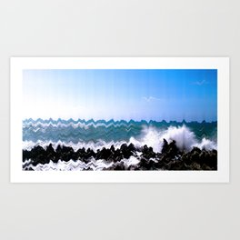 Sea and Rocks Art Print