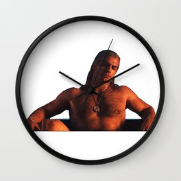 henry of rivia in the bathroom... Wall Clock