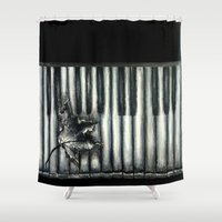 rustic Shower Curtains featuring Rustic by Mandi Ward