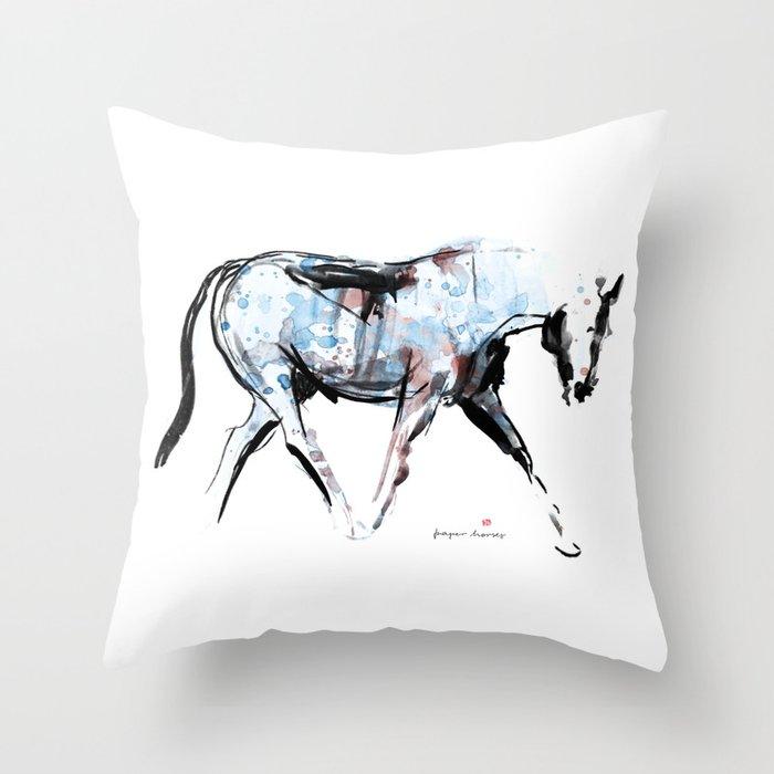 Horse (Wandering) Throw Pillow
