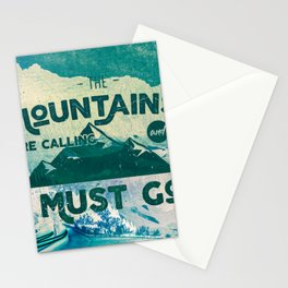 The Mountains are Calling & I Must Go Stationery Cards
