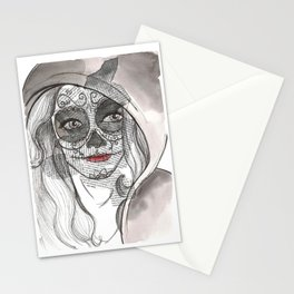 Woman bones Stationery Cards