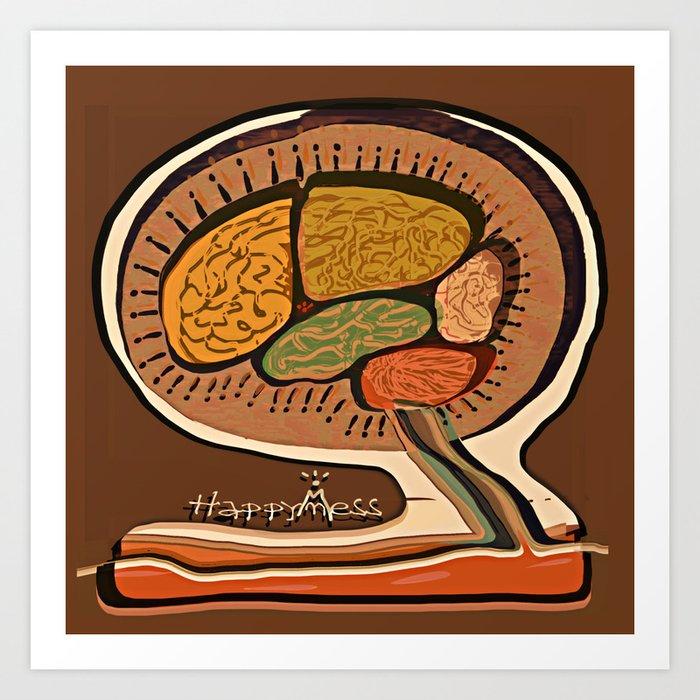 Terracotta HappyMess #society6 #buyart Art Print