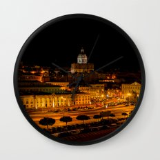 Lisbon by night Wall Clock
