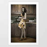 Housewife Art Print