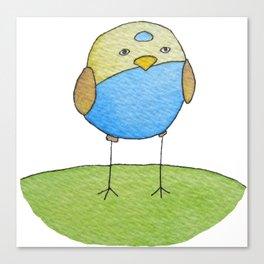 Blue Birdie Canvas Print