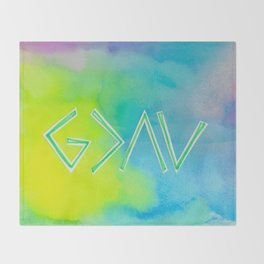 God Is Greater Than The Ups and Downs- Mix GREEN Throw Blanket