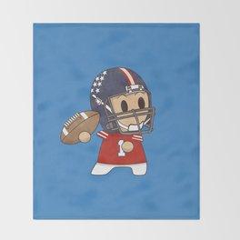 American Football Throw Blanket