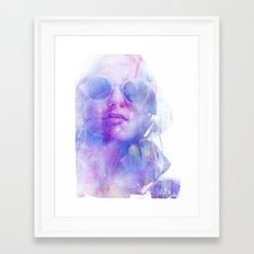 Hide my tears Framed Art Print