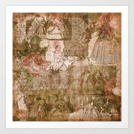 Vintage & Shabby Chic - Victorian ladies pattern Kunstdrucke
