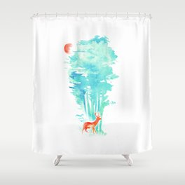Summer in the Woods Shower Curtain