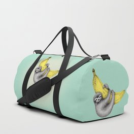 Bananas about you - sea green Duffle Bag